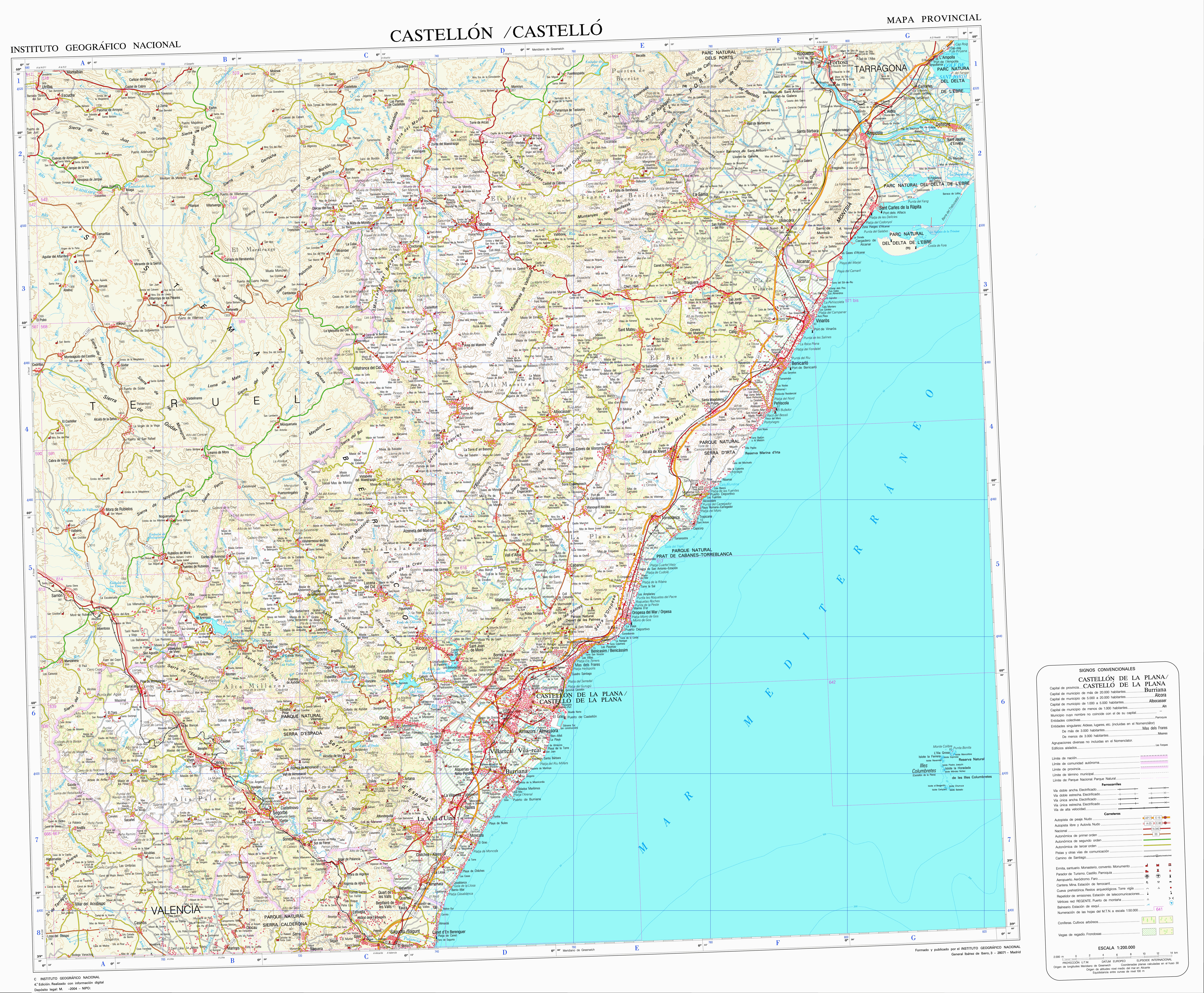 Mapa Topografico Comunidad Valenciana.Mapa Topografico De La Comunidad Valenciana Para Navegadores