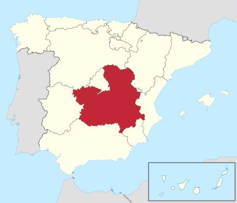 Mapa topográfico de Castilla la Mancha para Garmin