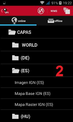 Mapa IGN en Oruxmaps